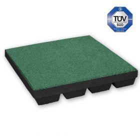 Fallschutzmatten - 50x50cm - 45mm - Grün- Spielplatz-Fallschutz mit TÜV in Kita und Schule