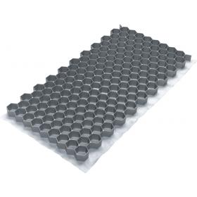 """Rasengittersteine - """"Gravel-Fix-Lite"""" - Kunststoff Grau - 40x80cm - 0,32m²  - Extraflach"""